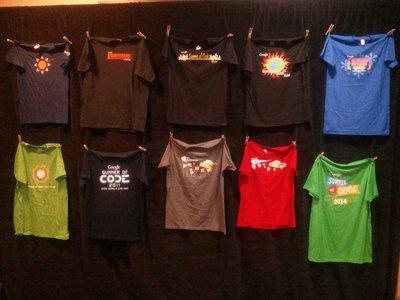 10 year t-shirt wall
